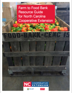 Cover photo for Farm to Food Bank Resource Guide for NC Cooperative Extension