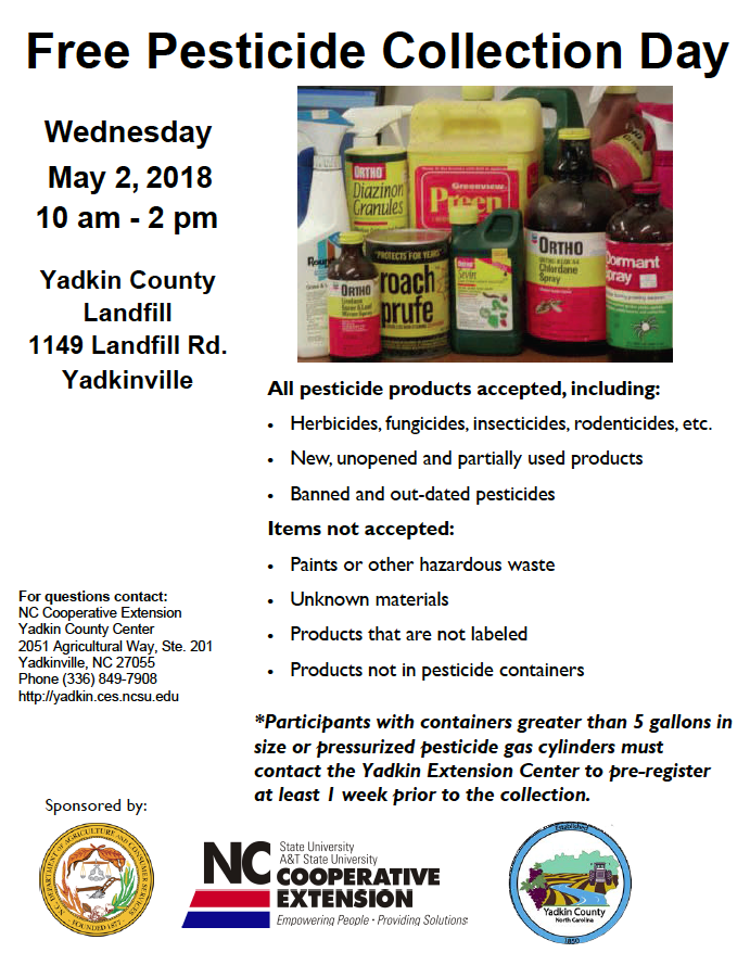 Pesticide Collection Day flyer image