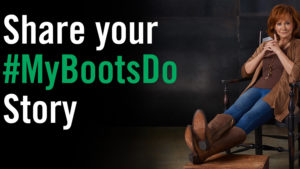 My Boots Do ad with Reba McIntire