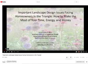 Cover Slide for Landscape Design Webinar