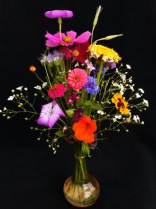 Vase of wildflowers