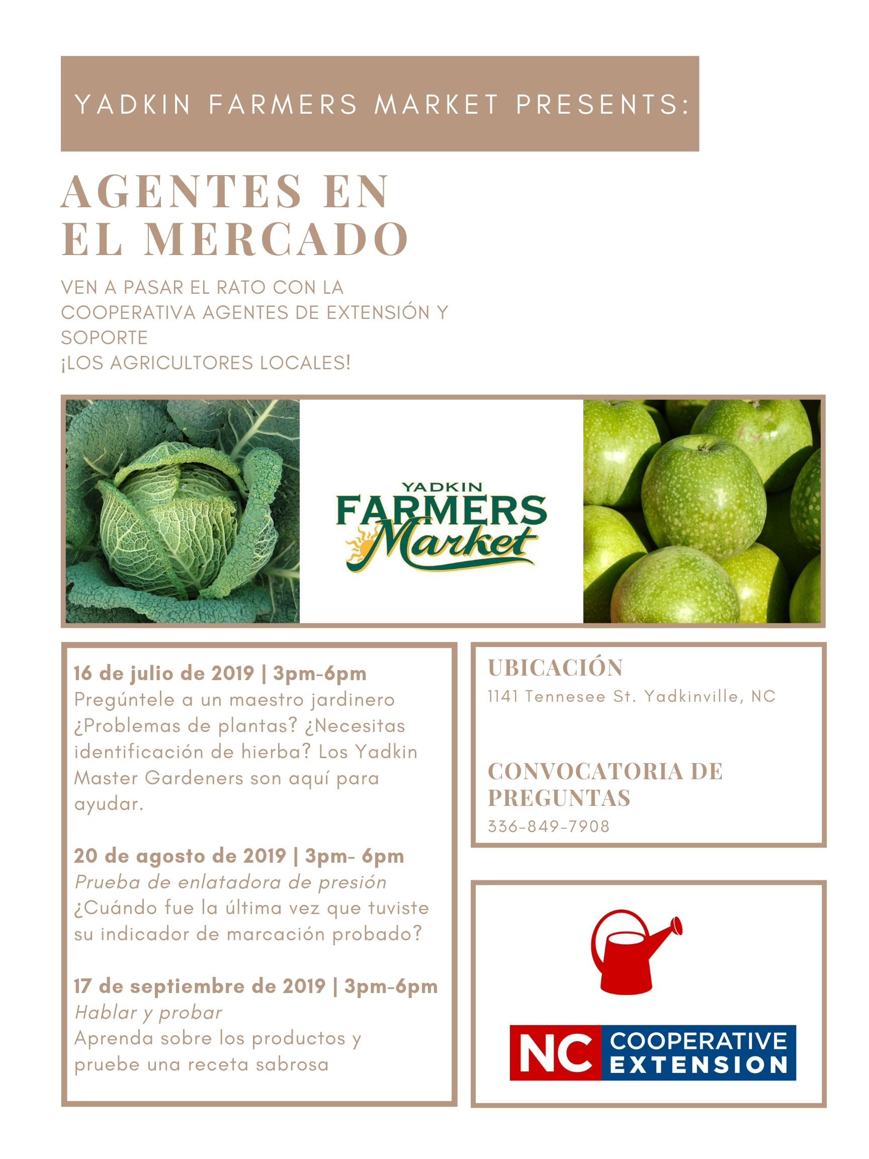 Event flyer image - Spanish version