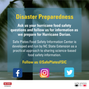 Cover photo for Hurricane Dorian Food Safety