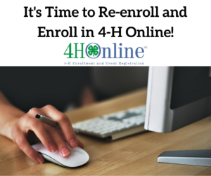 Cover photo for 4-H Online-Time to Re-Enroll and Enroll!