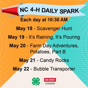 NC 4-H Daily SPARK: Week 9