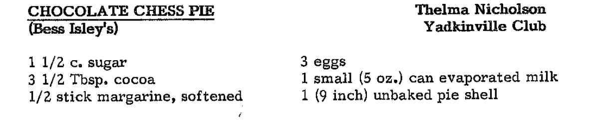 chocolate chess pie ingredients