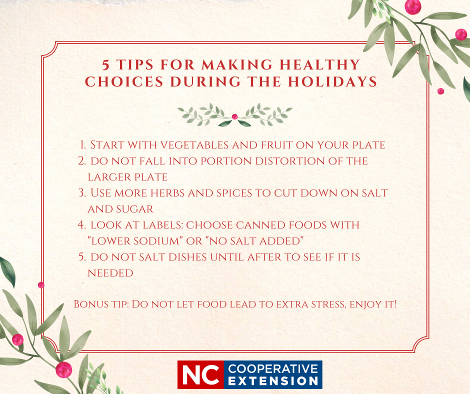Tips for Making Healthy Choices During the Holidays flyer