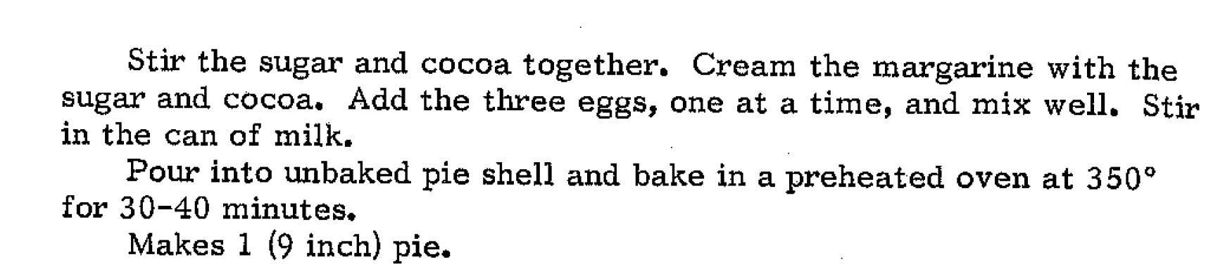 pie directions